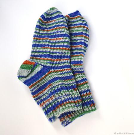 Шерстяные носки из износостойкой пряжи ручной работы на заказ