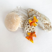 "Кулон ""Золотые рыбки"""