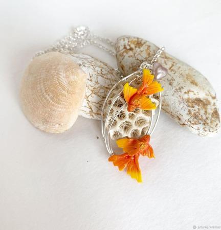 """Кулон """"Золотые рыбки"""" ручной работы на заказ"""