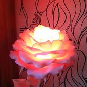 Роза-светильник из изолона