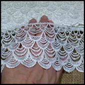 Кружево ажурное белое