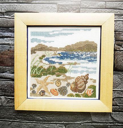 """Картина """"Тайны моря"""" ручной работы на заказ"""