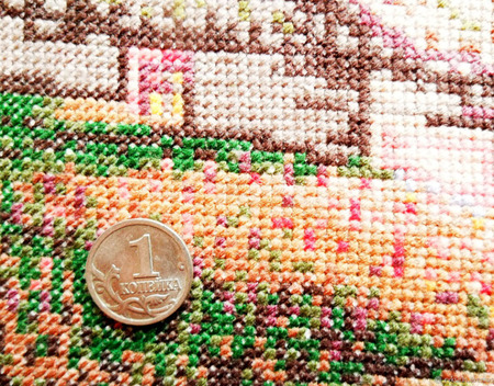 """Декоративная наволочка """"Закат"""" с ручной вышивкой крестом ручной работы на заказ"""