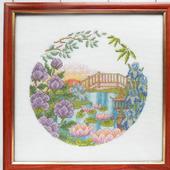 """Картина """"Китайский дворик"""" ручной вышивки крестом"""