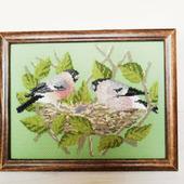 """Картина в раме """"Лучшее время весны"""" с ручной вышивкой крестом"""