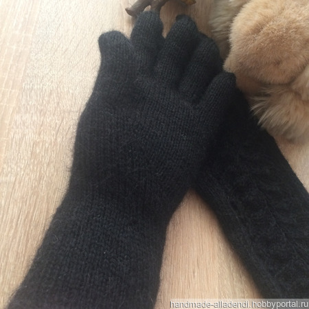 Вязаные перчатки ручной работы на заказ