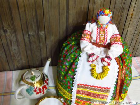"""Баба на чайник """"Барышня-крестьянка"""" ручной работы на заказ"""