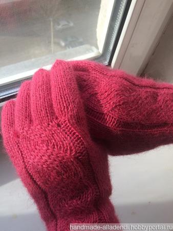 """Палантин """"Лесная ягода"""" и перчатки ручной работы на заказ"""