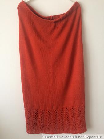 Красная юбка ручной работы на заказ