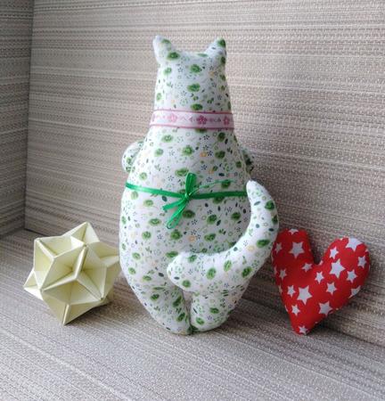 Мягкая текстильная игрушка Киса ручной работы на заказ