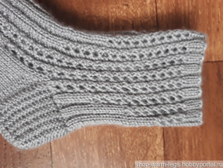 Ажурные теплые носки ручной работы на заказ