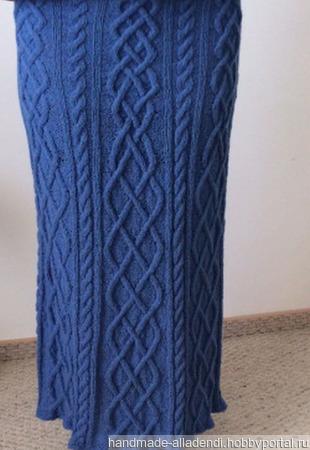 Осенняя юбка вязаная, трапеция ручной работы на заказ