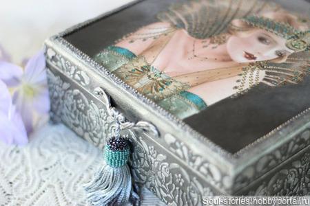 "Шкатулка для украшений ""Great Gatsby"" ручной работы на заказ"