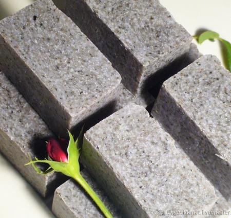 Соляное  моно мыло-органик  «Пепельная РОЗА» ручной работы на заказ