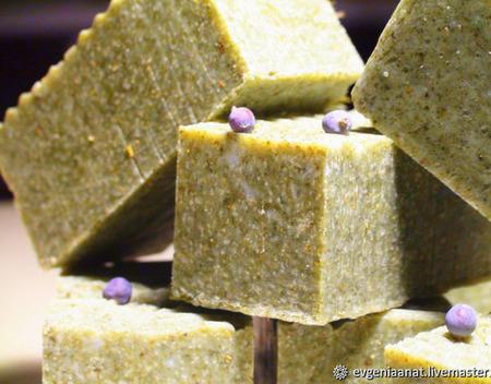 Соляное мыло «Сосна и Вербена» ручной работы на заказ