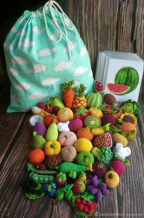 Арбуз из набора фрукты, овощи и ягоды ручной работы на заказ