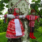 Свадебные народные куклы Неразлучники