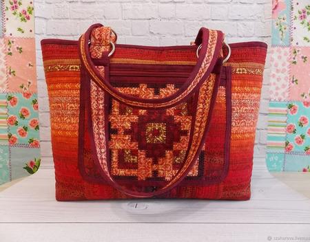 """Лоскутная сумка """"Русский стиль"""" ручной работы на заказ"""
