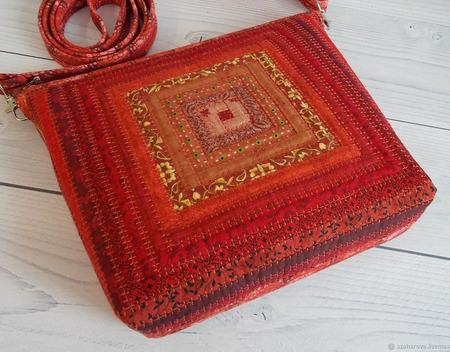 "Лоскутная сумка ""Традиция"" ручной работы на заказ"