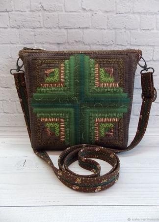 """Лоскутная сумка """"Кедровая"""" ручной работы на заказ"""