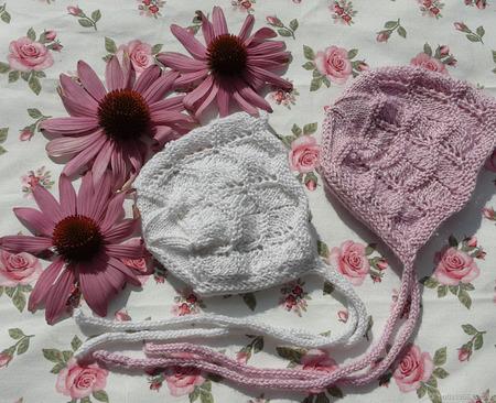 Чепчик вязаный для новорожденного ручной работы на заказ