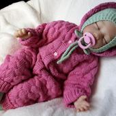 Комбинезон вязаный для новорожденного