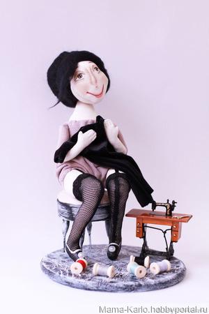 """Кукла """"Мечты мадам Бурже..."""" ручной работы на заказ"""