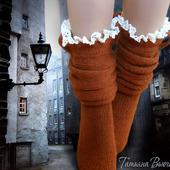 """Носки вязаные спицами, шерстяные """"Андерсен"""""""