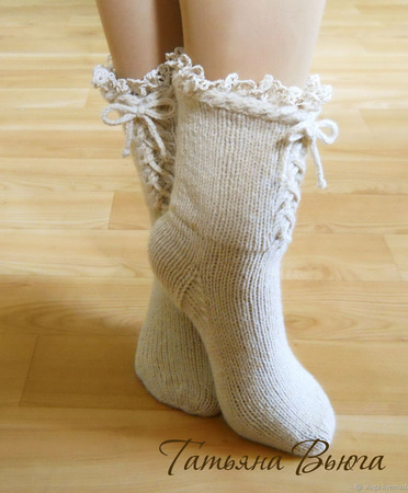 """Носки вязаные, стиль бохо """"Агата"""" ручной работы на заказ"""