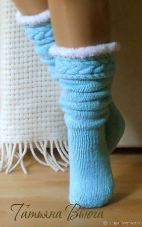 "Гольфы вязаные, вязаные носки длинные ""Шаманы"" ручной работы на заказ"