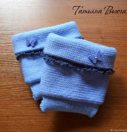 """Носки вязаные, шерстяные, с кружевом """"Колыбельная"""" ручной работы на заказ"""
