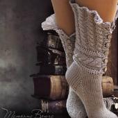 """Носки вязаные, шерстяные """"Сказание"""""""