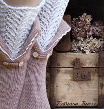 """Носки вязаные, шерстяные """"Дом у сиреневой реки"""" ручной работы на заказ"""