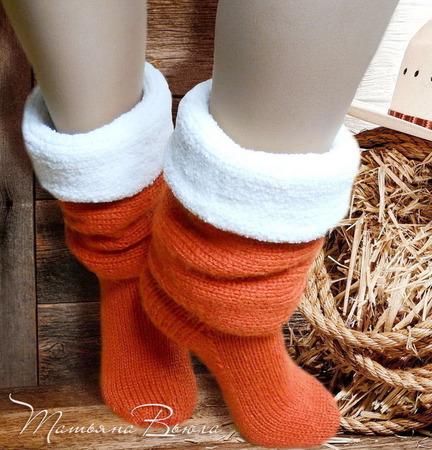 """Носки вязаные, шерстяные """"Ранчо моего дедушки"""" ручной работы на заказ"""