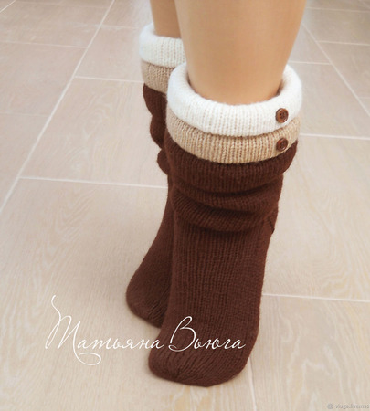 """Носки вязаные спицами, носки шерстяные """"Что шепчет ветер"""" ручной работы на заказ"""