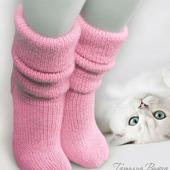 """Носки вязаные спицами, шерстяные """"Алиса"""""""