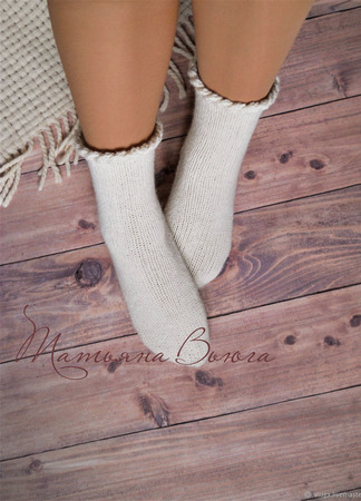 "Носки вязаные, шерстяные ""Хюгге"" ручной работы на заказ"