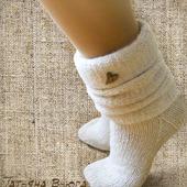 """Носки вязаные, шерстяные купить """"Ботики"""""""