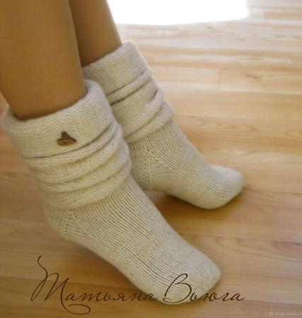 """Носки вязаные, шерстяные купить """"Ботики"""" ручной работы на заказ"""