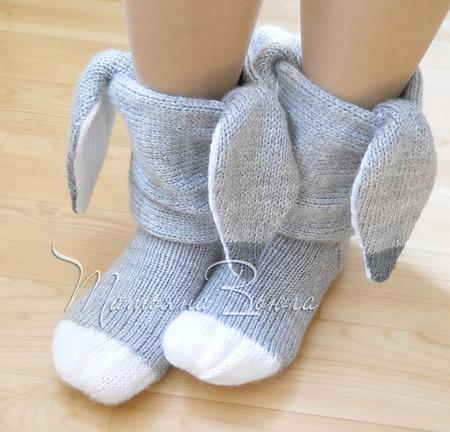 Ослики. Носки вязаные, шерстяные ручной работы на заказ