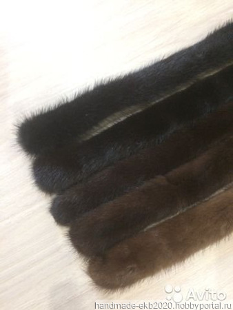 Пояс из меха натуральной норки ручной работы на заказ