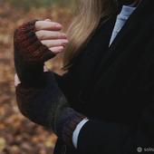 """Митенки """"Осенний лес"""""""