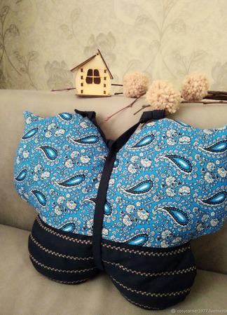 "Подушки ""Бабочки"" набор из 2х штук ручной работы на заказ"