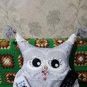 Сова подушка игрушка держатель пультов Маша