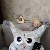 Сова подушка игрушка держатель пультов Саша