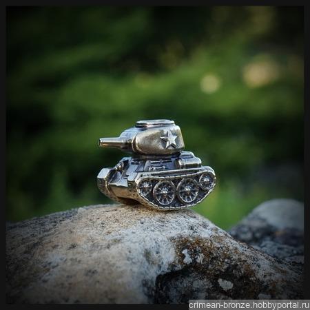 """Темлячная бусина """"Т-34"""" для ножа, латунь ручной работы на заказ"""