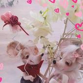"""Мыши игрушечные """"Люблю тебя"""""""
