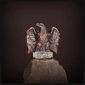 """Бусина """"Орел Цезаря"""" для темляков или браслетов, бронза"""