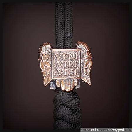 """Бусина """"Орел Цезаря"""" для темляков или браслетов, бронза ручной работы на заказ"""