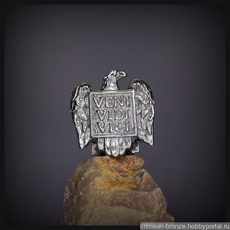 """Бусина """"Орел Цезаря"""" для темляков или браслетов, мельхиор ручной работы на заказ"""